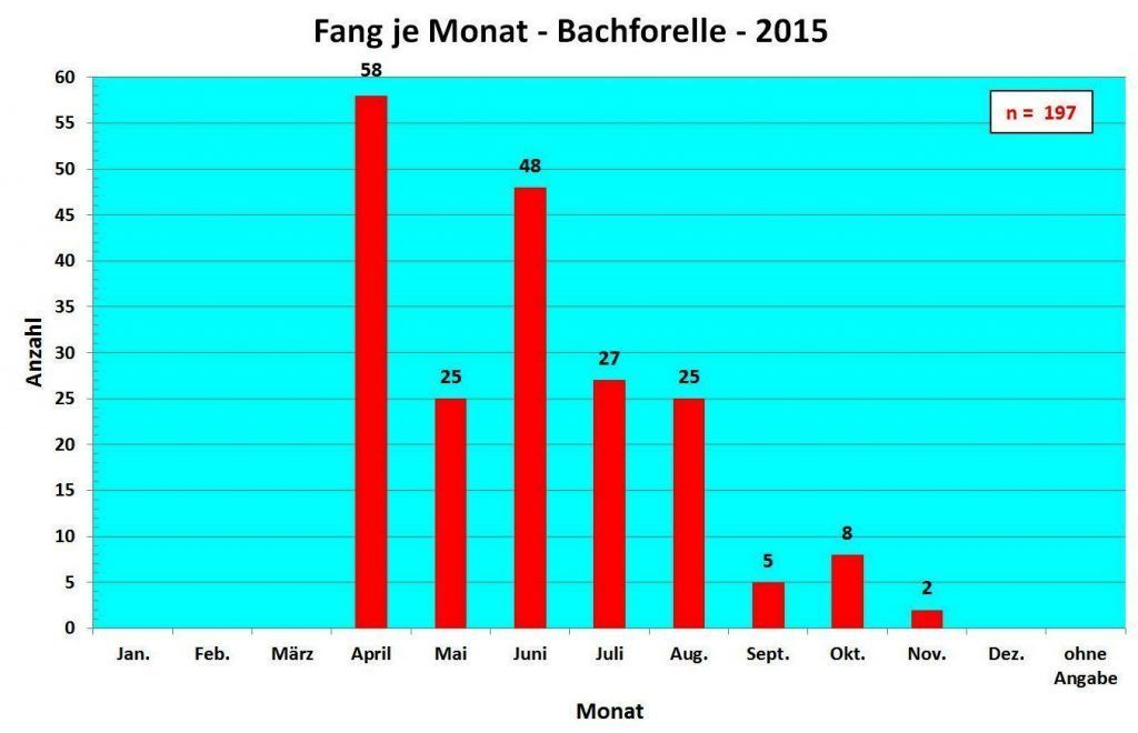 Fang pro Monat Bachforelle 2015